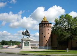 коломна, города, - исторические,  архитектурные памятники, россия, город, кремль, памятник