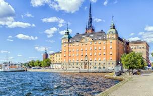 города, стокгольм , швеция, здание