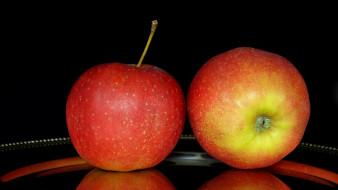 еда, яблоки, дуэт
