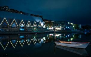 ночь, река, лодка