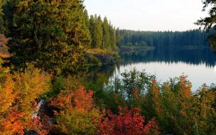 обои для рабочего стола 1920x1200 природа, реки, озера, осень, озеро