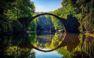 природа, реки, озера, мост, река