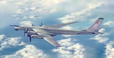 ту-95мс, авиация, 3д, рисованые, v-graphic, бомбардировщик, ракетоносец, ту95, стратегический, турбовинтовой, рисунок