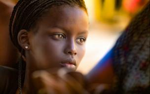 девушка, модель, мулатка, молодая, взгляд, красотка, лицо, портрет, темнокожая, чернокожая