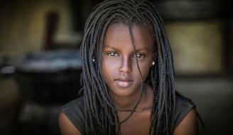 красотка, взгляд, девушка, молодая, модель, мулатка, чернокожая, темнокожая, портрет, лицо