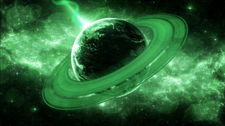 космос, арт, планета, кольца