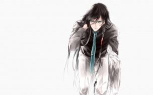 аниме, touken ranbu, галстук, парень, коса, костюм