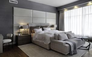 кровать, подушки