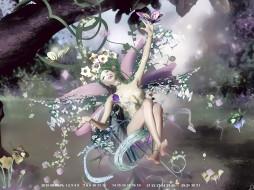 2019, calendar, радость, смех, природа, растение, фея, бабочка, цветы, девушка