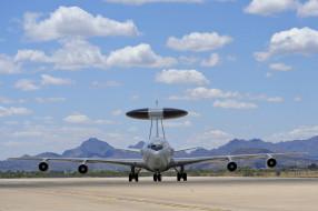 boeing e-3 sentry, авиация, авакс,  дрло,  разведывательные самолёты, дальнего, радиолокационного, обнаружения, аэродром, военная, самолет