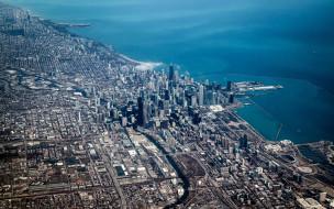 города, чикаго , сша, панорама
