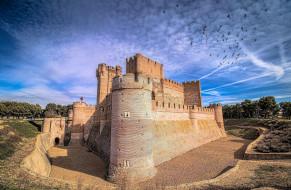 castillo de la mota, города, замки испании, castillo, de, la, mota
