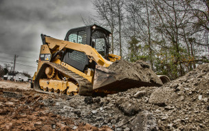cat, сaterpillar 299d2, специальное оборудование, экскаваторы, 4k, hdr, строительные машины