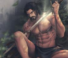 меч, воин, торс