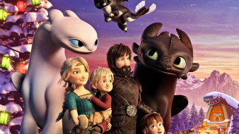 how to train your dragon homecoming , 2019, мультфильмы, -unknown , разное, toothless, персонажи, light, fury, мультфильм, astrid, hiccup