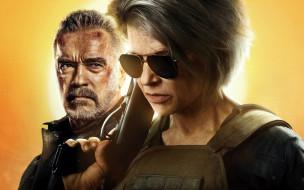 терминатор темные судьбы, линда хэмилтон, боевик, фантастика, арнольд шварценеггер, постер