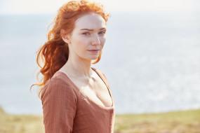 рыжая, платье, актриса