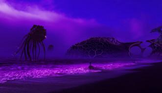 фон, существо, человек, море