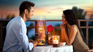 ужин, романтика, влюбленные