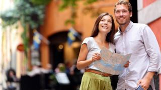 туристы, карта