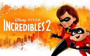 incredibles 2, мультфильмы, постер, мультфильм, incredibles, 2, cуперсемейка