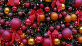 елка, банты, шарики