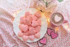 надпись, сердечки, печенье