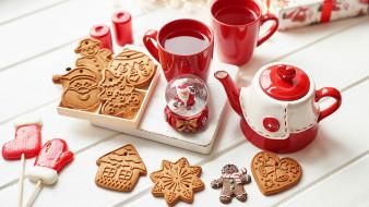 леденцы, шар, снежный, чай, печенье