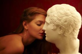 Ann Glazyrina обои для рабочего стола 1920x1280 ann glazyrina, девушки, ann glazyrina , indiana a, красотка, стройная, поза, флирт, макияж, взгляд, сексуальная, модель, рыжеволосая, ann, glazyrina, indiana, a, статуя, голова, мрамор, поцелуй, девушка