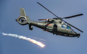 eurocopter as365 dauphin, военно-транспортный вертолет, ввс китая, военный вертолет