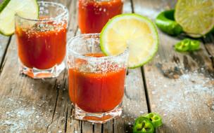 лимон, перец, сок, томатный