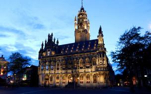 netherlands,  middelburg,  town hall, города, замки нидерландов, собор