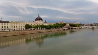 лион, города, лион , франция, река