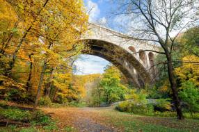 города, - мосты, аллея, парк, осень, мостик