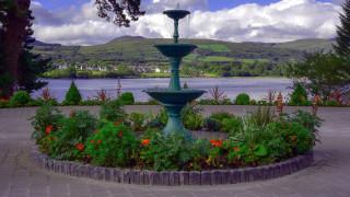 города, - фонтаны, река, парк, фонтан, клумба