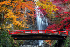 города, - мосты, водопад, поток, вода