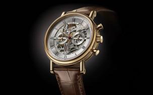 черный фон, швейцарские часы, breguet, наручные часы
