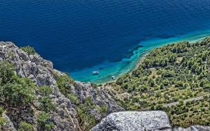 природа, побережье, скалы, панорама