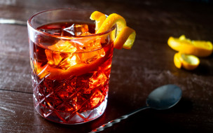 коктейль, лед, лимон