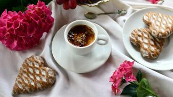 пряники, кофе, цветы