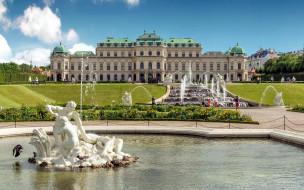 belvedere palace, города, вена , австрия, belvedere, palace