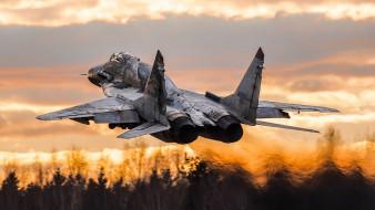 миг 29, авиация, боевые самолёты, ввс, россии, сопла, реактивный, истребитель, миг, 29