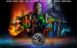 супермен, бэтмен, супергерои, аквамен, флэш, чудо женщина, зеленый фонарь, киборг, Марсианский Охотник, лига справедливости
