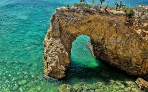 природа, побережье, скала, море