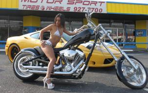 мотоциклы, мото с девушкой, красивая, девушка, тату, туфли