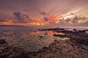 природа, побережье, солнечный, свет, небо, греция, море