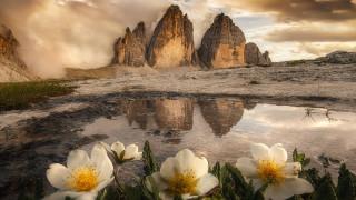 природа, горы, италия, горный, массив, тре-чиме-ди-лаваредо