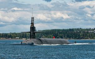 uss alabama, корабли, подводные лодки, ssbn, 731, подводная, лодка, американская, uss, alabama, класса, огайо, вмс, сша, подводные, лодки, армия