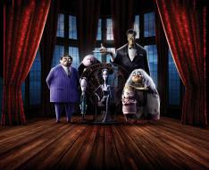 the addams family , 2019, мультфильмы, семейка, аддамс, мультфильм, персонажи, озвучка, оскар, айзек, шарлиз, терон, хлоя, грейс, морец