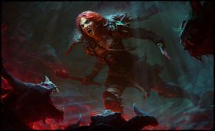 Barbarian, Diablo IV, Woman Warrior, Red Hair